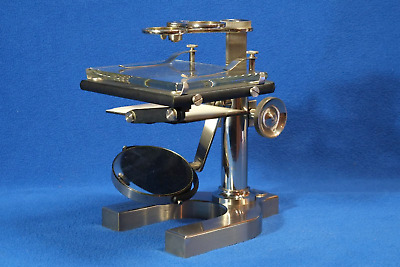 Bausch and Lomb Dissecting Microscope Bright Nickel Plating 24612 Antique