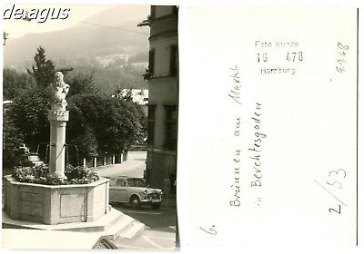 Vintage Photo from 1968 Berchtesgaden-Germany,Market Place with Fountain