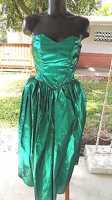 Taffeta Juniors Green Size S Strapless Prom Party Full Net Skirt Dress