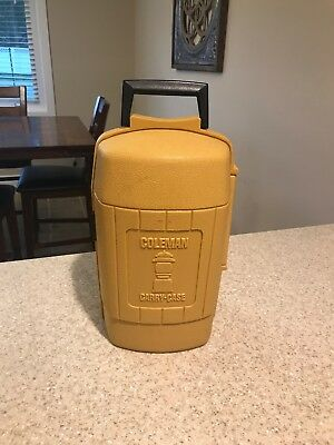Coleman 200A Lantern dated 1/71 Single Mantel Yellow Case dated 3/80 With Funnel