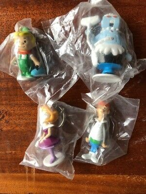 Vintage 1990 The Jetsons Movie 4 Figure Keychain Lot Applause PVC