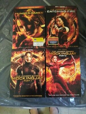 The Hunger Games : The Complete Series Collection 4 Movies New Sealed Slip-Case