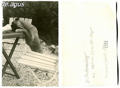 Vintage Photo from 1964 St. Andreasberg, cute boxer dog