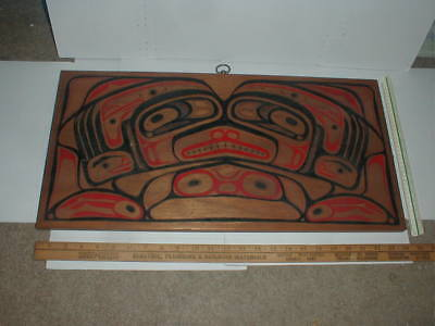 West Coast First Nations Native Nothwest Indian Wood Carving Board Bentwood Art