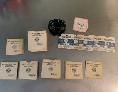 Viewmaster U.S. Navy Training Reels Plane Spotting Nearly Complete+Viewer Extras