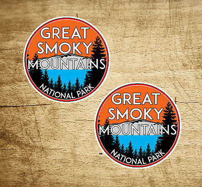 """2 Great Smoky Mountains National Park Vinyl Decals Stickers 2"""" Tennessee Sticker"""
