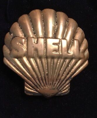 Vintage Shell Oil Company Hat Badge 40's - 50's??