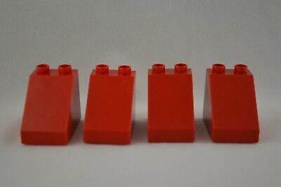 2X4 combined shipping lot of 3 red Duplo blocks