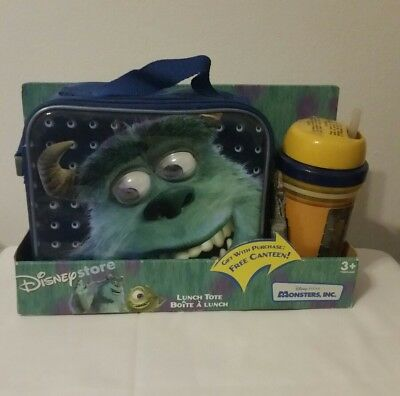 VINTAGE Disney Store Monsters Inc Lunch Tote Sully with Canteen