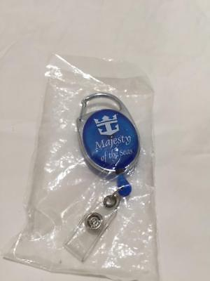 Royal Caribbean Majesty of the Seas Retractable Keychain w/ Belt Loop Attachment