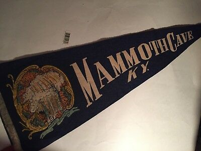 Vintage Travel Felt Souvenir Pennant, MAMMOTH CAVE, KENTUCKY  USA