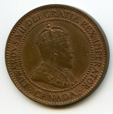 1910 Canada, 1 Cent Coin, Unc. MS+