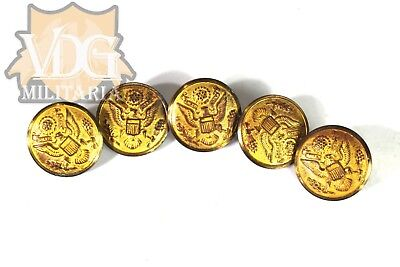 Lot of 5 WW2 or Earlier US Army Officer Uniform Buttons