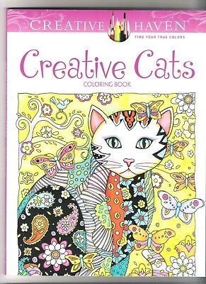 Creating Haven ® Coloring Book ~ Creative Cats w/ 24 Pack Colored Pencils