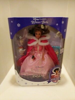 Disney Classics Winter Belle Doll Beauty And The Beast 1992 #1637