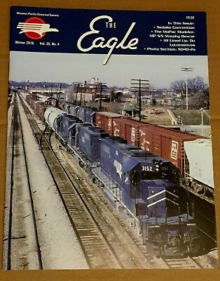 Missouri Pacific Railroad Winter 2010 Eagle Mag Airslide Hoppers, SD40-2s Mo-Pac