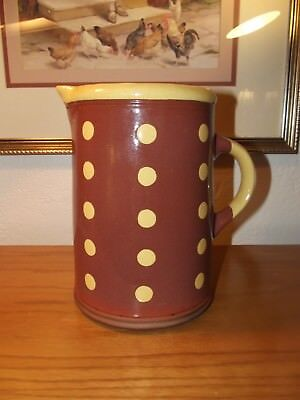 Wisconsin Pottery Designed Exc. For K&K Interiors #B5417 Pitcher Polka Dots