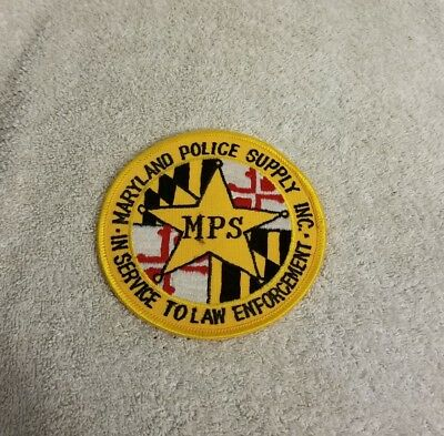 "Maryland Police Supply Inc In Service to Law Enforcement 4"" Embroidered Patch"