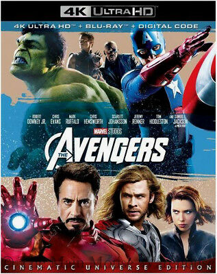 Authentic Marvel The Avengers First Movie 4K Ultra HD Blu-ray Digital Copy Code