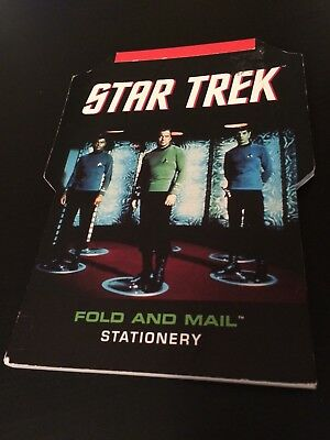 Star Trek Fold And Mail Stationary George Takei Shatner Kirk Spock Nimoy Scotty