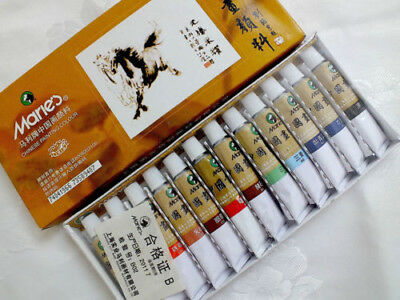 12 MARIE'S CHINESE WATERCOLOUR PAINT for Oriental Painting.12 ml