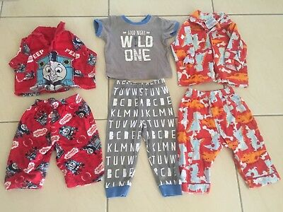 Baby boys winter pjs size 0 & 1 Sprout, Thomas the Tank engine, dinosaurs