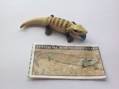 Yowie Collectible Toy Series 2 1998  Blue Tongued Lizard Scientific Papers