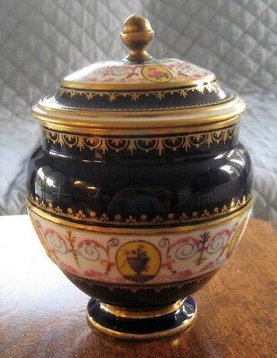 18th C 1780 Circa French Sevres Signed Sugar Bowl Known Artist & Gilder - AS IS