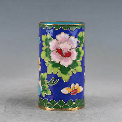 Chinese  Cloisonne Hand-made Flowers Brush Pots JTL1038+a