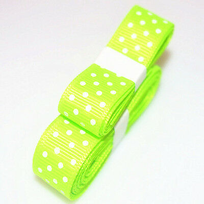 "3yds 5/8""(15 mm) Fluorescent colors Ribbon Printed lovely Dots Grosgrain"