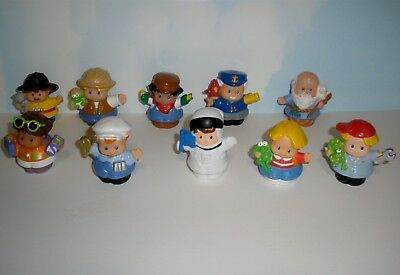 Fisher Price Little People  Male Figures  10 Assorted  set 1