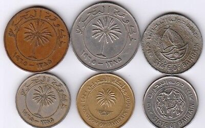 6 different world coins from BAHRAIN