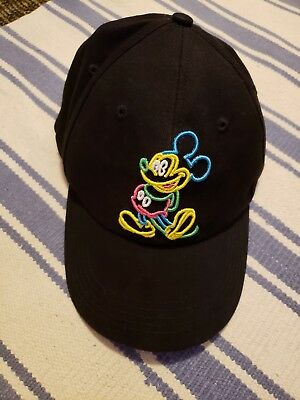 Disneyland Resort black baseball hat multicolored Mickey Mouse Adult one size