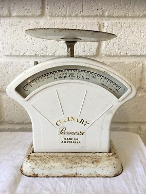 Vintage Culinary Persinware White Scales