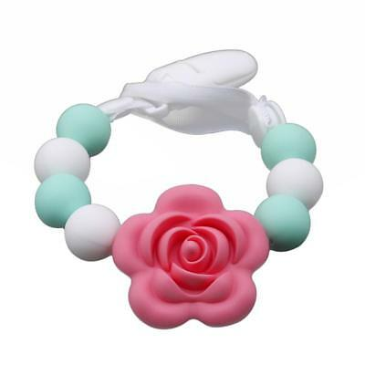 Lovely Baby Silicon Pacifier Soother Dummy Clip Holder BPA Free Girl JAZZ