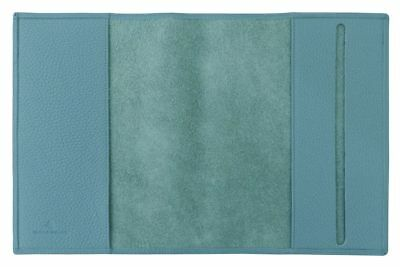 Carpe Diem A5 Book Cover Derby Fashion Leather Turquoise