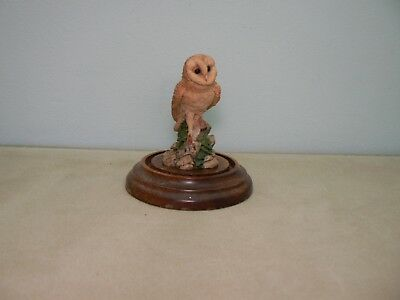 COUNTRY ARTISTS QUALITY FIGURINE / ORNAMENT OF BARN OWL on the Wall