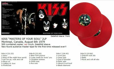 KISS 2 LP Masters of your soul 1979 Montreal rotes Vinyl 500 copies Gene Simmons