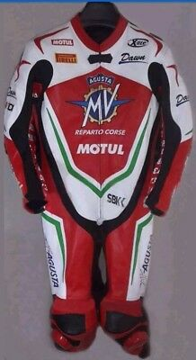 MV AGUSTA  MTORBIKE ARMOUR PROTECTION RACING 1and 2 PIECES LEATHER SUIT