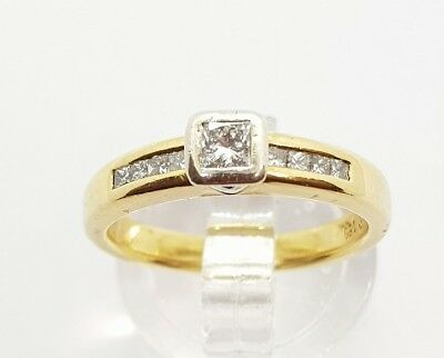 18ct Solid Genuine Yellow gold Ring with 0.25ct Diamonds Val $3020