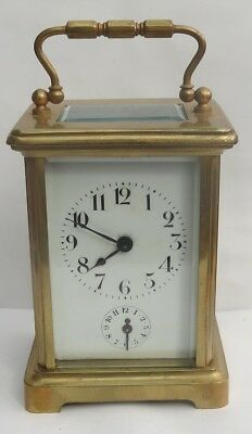 Fine Antique French 8-Day Alarm Clock With Case
