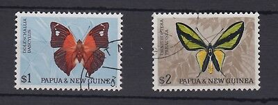 Papua 1968 butterflies $1 and $2, plate II - SG91a, 92a fine used