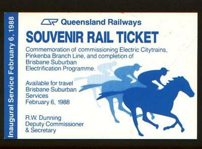1988 Inaugural Service Feb 6th Electric Train Commissioning Pinkenba Branch Tick