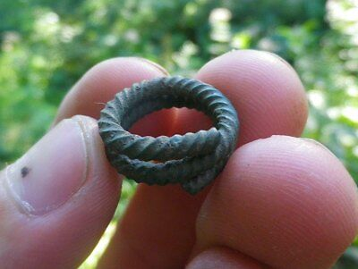 Amazing Bronze Age Twisted Wedding Ring - Perfect Patina - Make An Offer