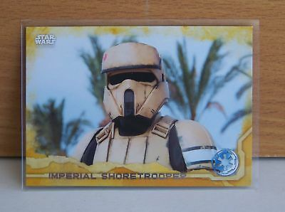 Star Wars Rogue One series 1 Imperial Shoretrooper #41 Gold parallel card 14/50