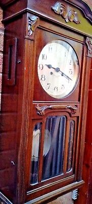 GERMAN Kienzl Chimming LARGE WALL CLOCK Fully Working Movement  ROSEWOOD Case