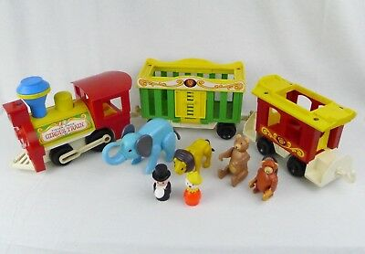 Fisher Price Circus Train 991 Little People Toy 1973