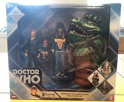 Character Doctor Who Action Figure Set Enemies of the 3rd Doctor - New & Boxed