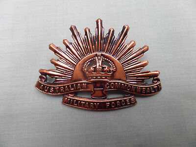 Original WW2 Era Australian Army Rising Sun Hat Badge - Luke