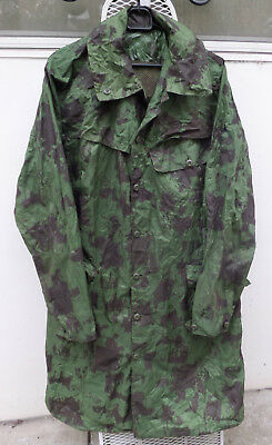 Vietnam Era 1971 Australian Army Camouflage Spray Rain Coat Military Jacket